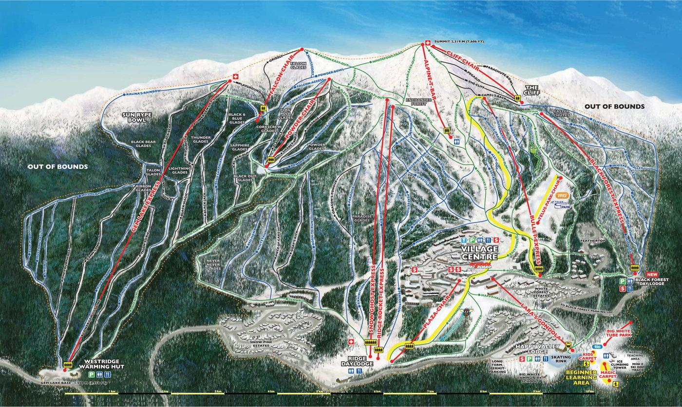 Big White Trail Map