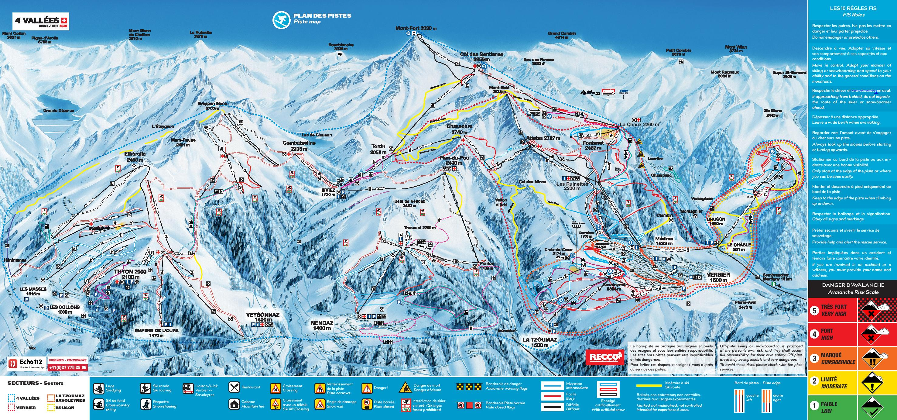 Verbier Trail Map