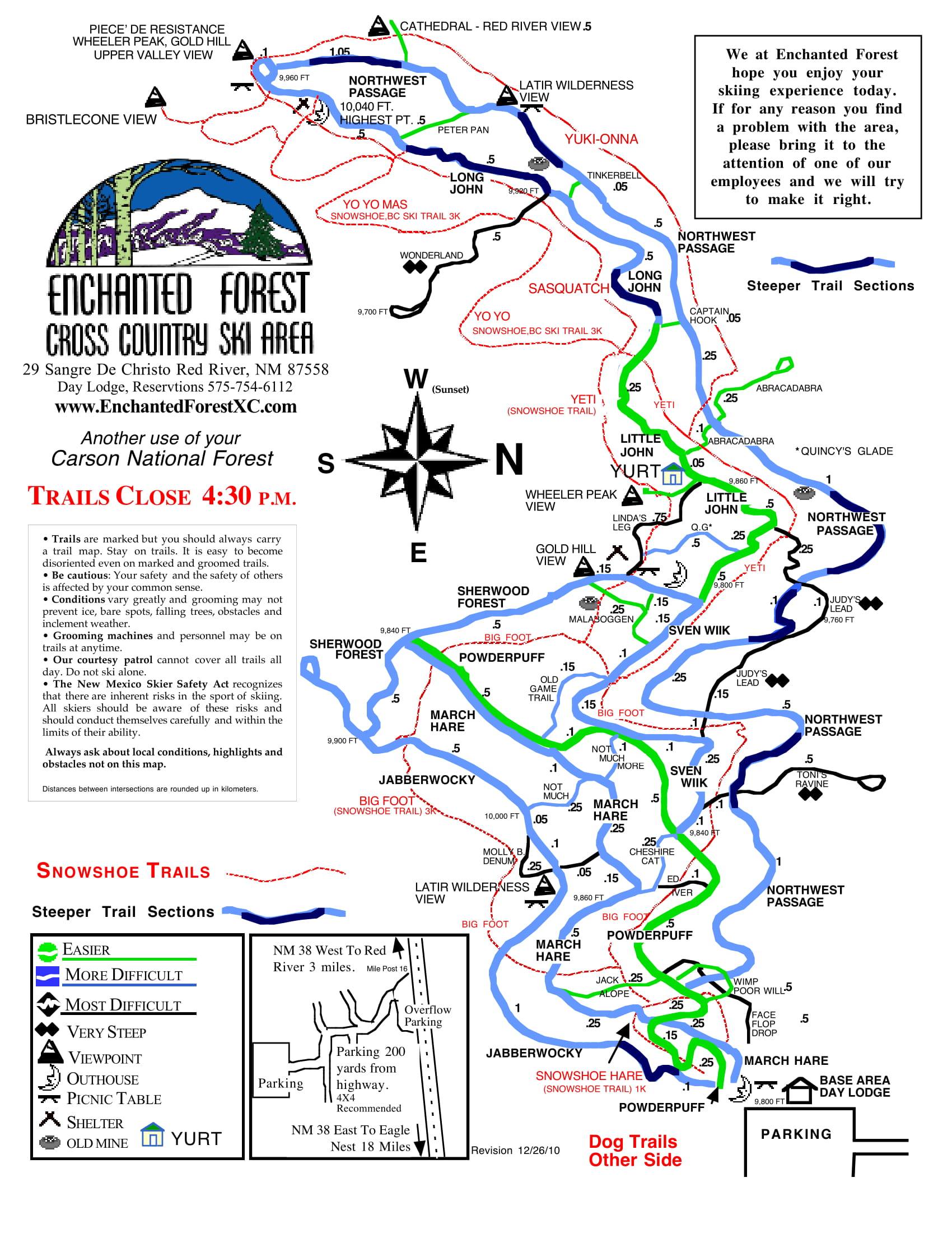 Enchanted Forest Trail Map