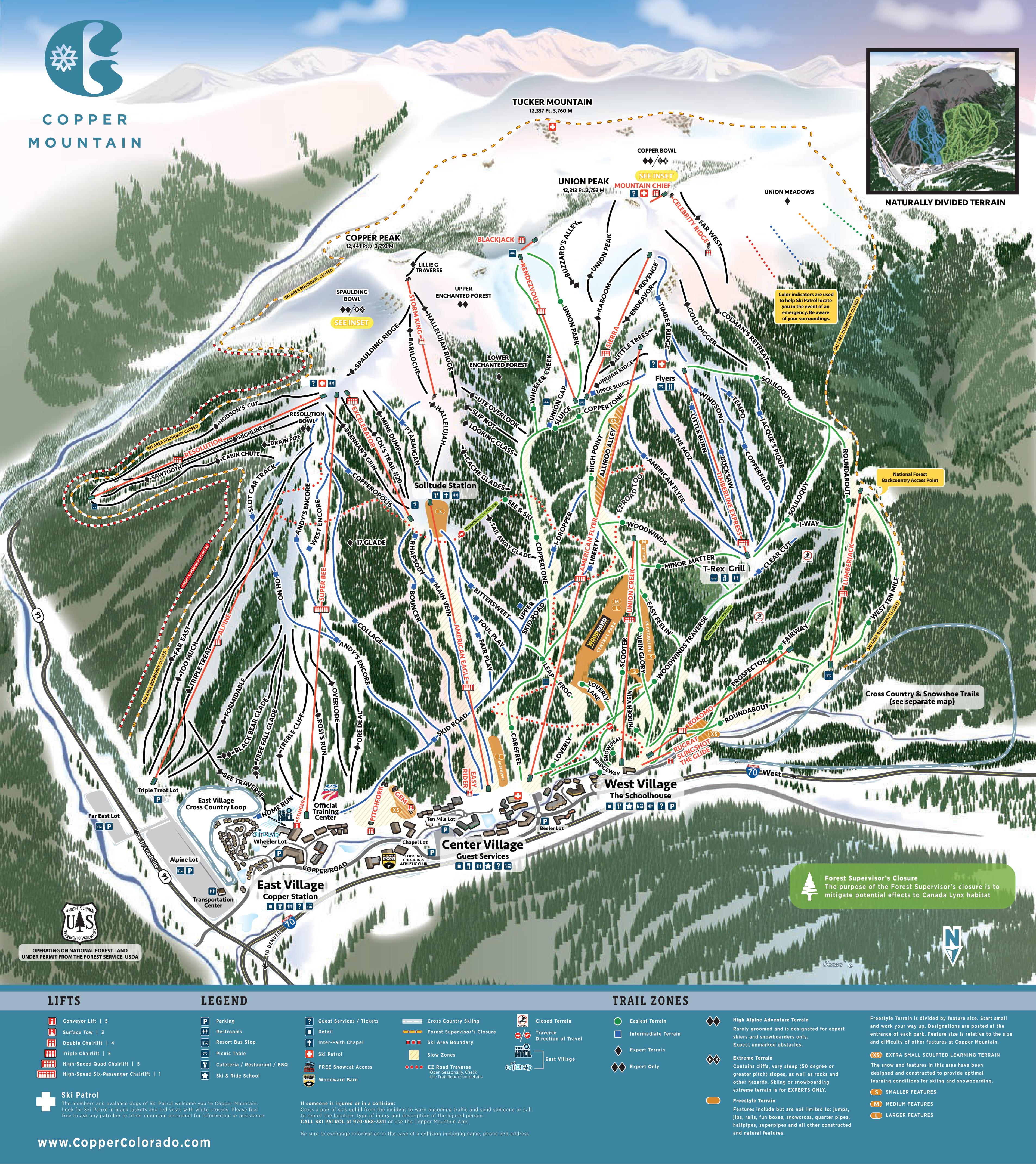 Copper Mountain Trail Map