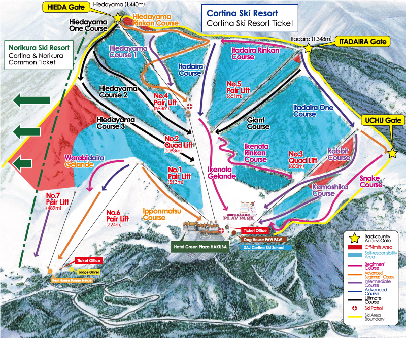 Cortina Trail Map