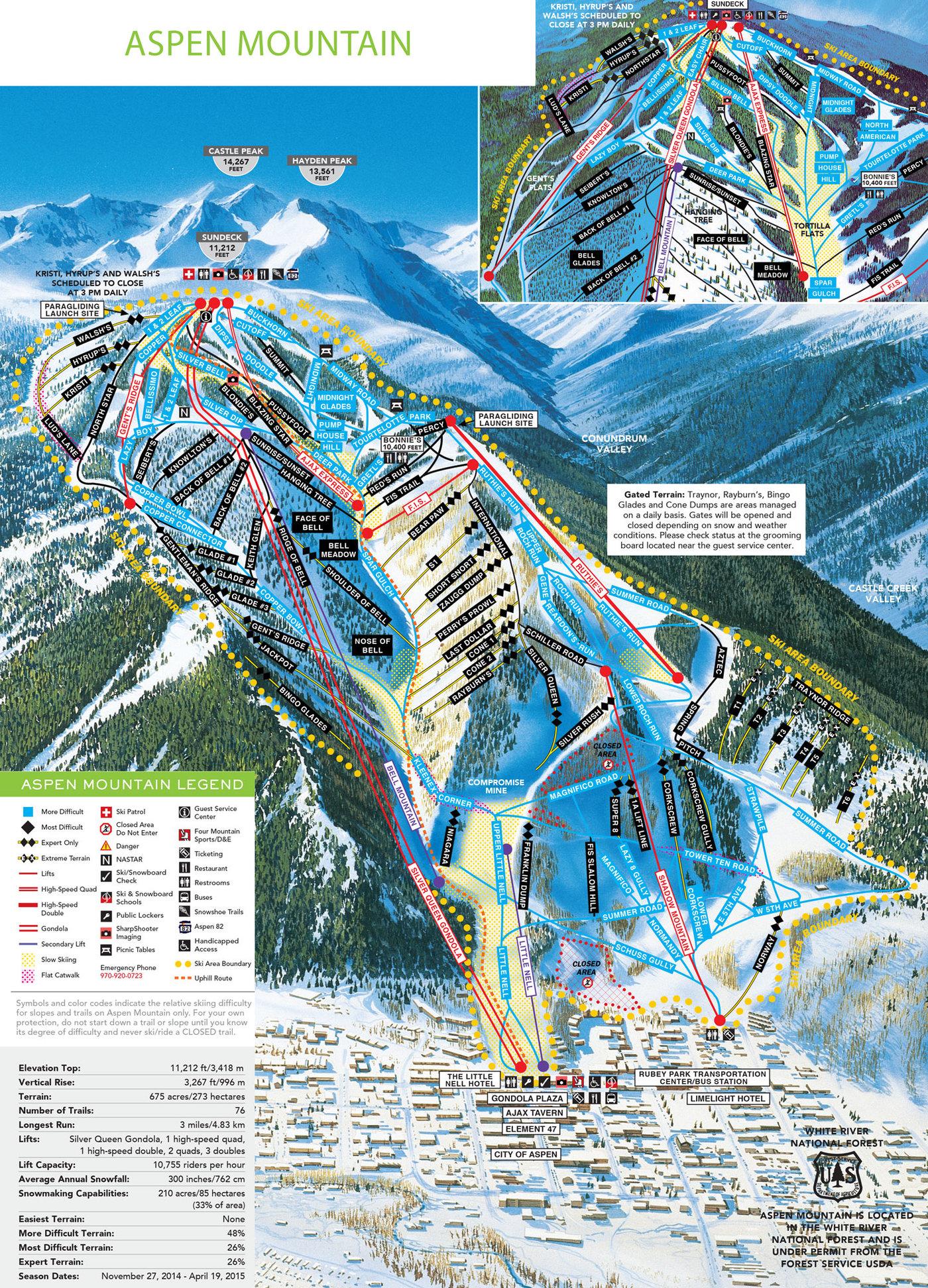 Aspen Mountain Trail Map