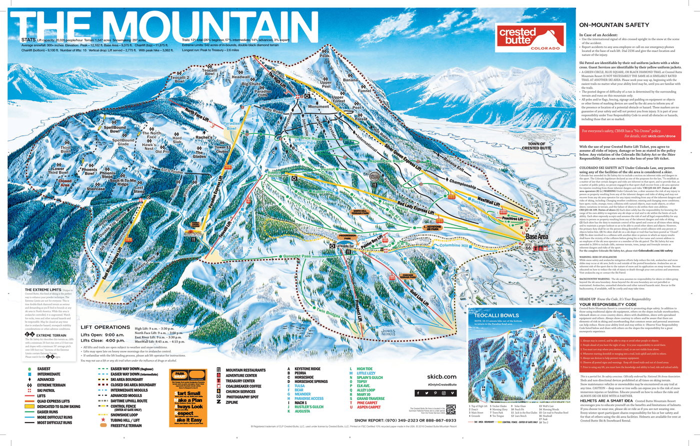 Crested Butte Trail Map
