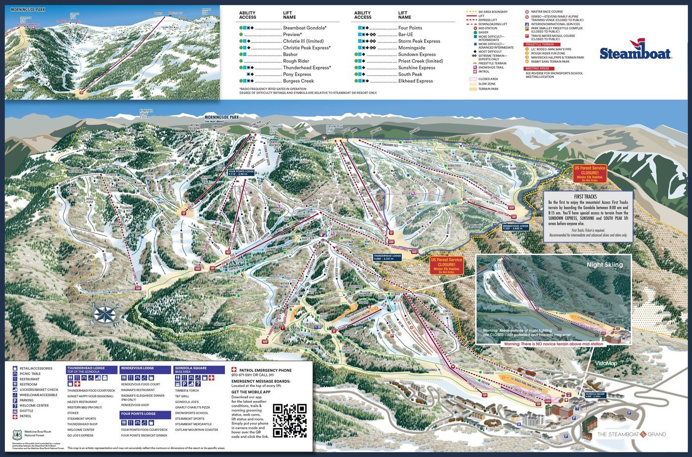 Steamboat Trail Map
