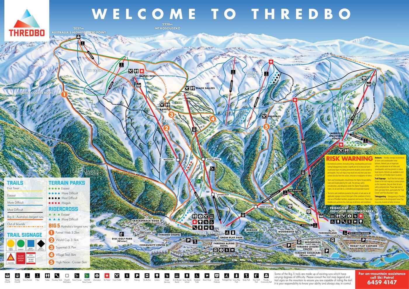 Thredbo Trail Map