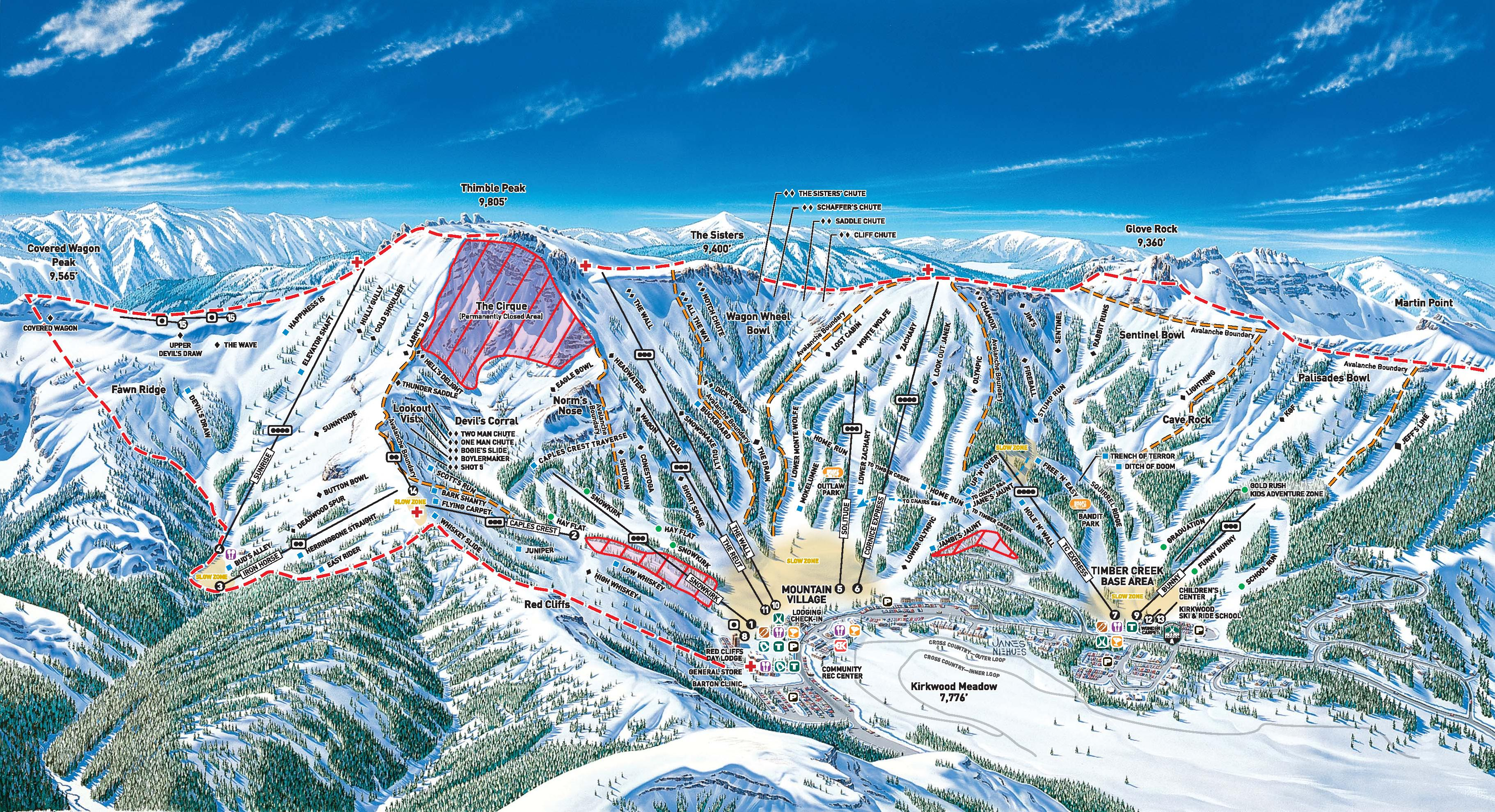 Kirkwood Trail Map