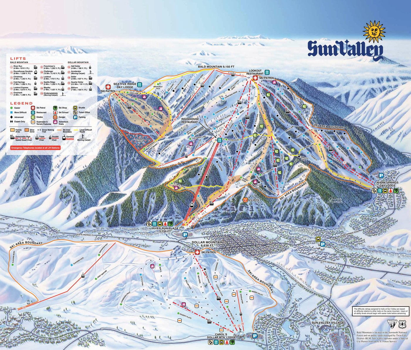 Sun Valley Trail Map