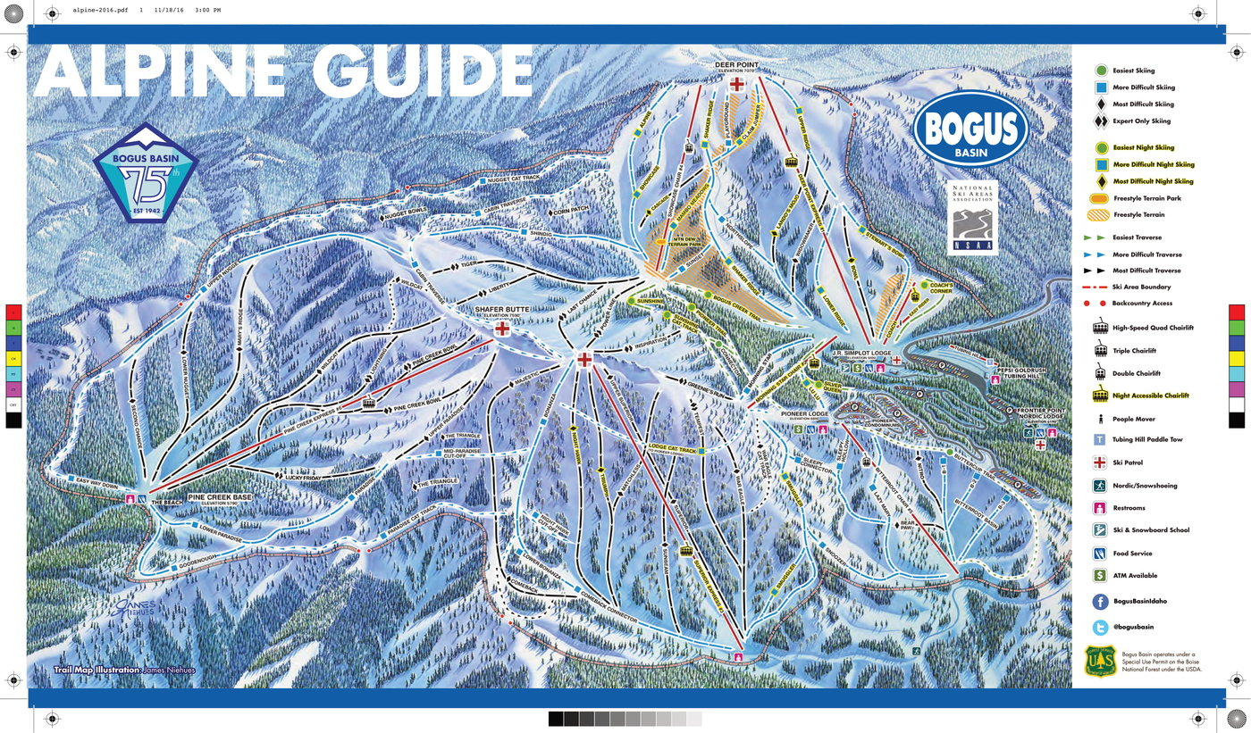 Bogus Basin Trail Map