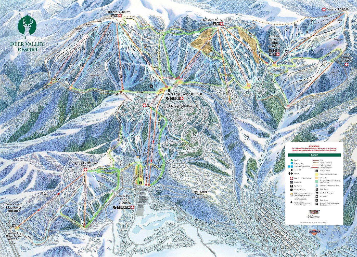 Deer Valley Trail Map